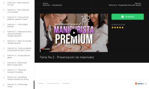 Curso Manicurista Premium por dentro de la plataforma