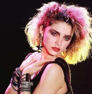 Madonna como ícono de la moda en los 80