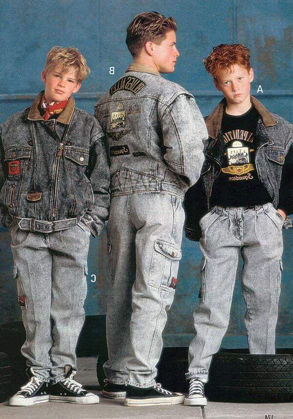 Pantalones en hombres en la moda de los años 80