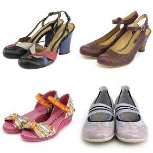 Zapatos en la moda de los años 80