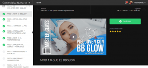Curso Piel Joven con BB Glow por dentro