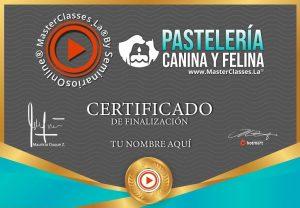 Certificado curso online pastelería canina y felina