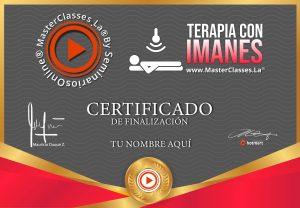 Certificado de terapia con imanes