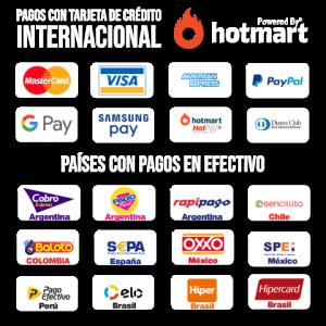 Métodos de pago Hotmart