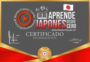 Testimonios y certificado del curso Aprende japonés desde cero